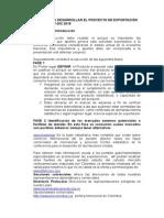 Proyecto de Exportación 2015 unitec