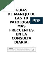 Guias de Manejo de Las 10 Patologias Mã-s Frecuentes Del Servicio de Urgencias