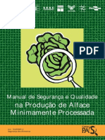 MANUAL SEGURANCA QUALIDADE Producao de alface minimamente processada