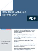 Resultados Evaluacion Docente 2014