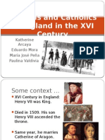 Puritans and Catholics in England in the XVI Final