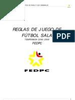Reglamento Fútbol Sala