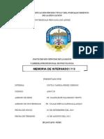 MEMORIA DE INTERNADO y PSICOLOGIA