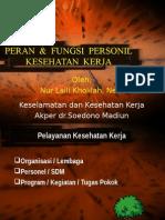 Peran Dan Fungsi Personil k3