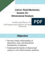 Análisis dimensional - Mecánica de Fluidos