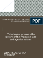 Brief Historical Background of Agrarian Reform