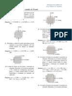 Lista de Exercícios Analise de Tensao - Mecânica Dos Sólidos II