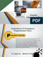 disaster preparedness plan