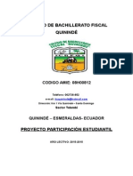 Proyecto Part. Ed. Amb. y Reforest Cbfq