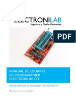 Manual de Usuario PIC PROGRAMMER Electronilab.co