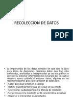 1.5 Recoleccion de Datos