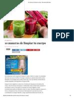 10 Maneras de Limpiar Tu Cuerpo - Barcelona Alternativa