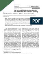 Effect of Alkali Metal Ion Modification on the Catalytic Performance of Nano-HZSM-5 Zeolite in Butene Cracking