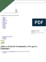 ¿Qué Es El Pan de Germinados y Por Qué Es Saludable_ - Club Salud Natural