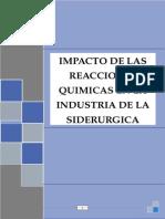 reacciones quimicas en la siderurgia