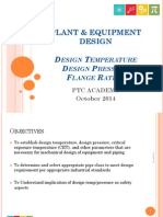 Plant-Equipment Design - Design Temp, Pressure & Flange Rating - 20Oct14