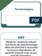 Bar Terminologies