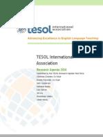 2014 Tesol Research Agenda
