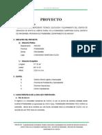 """"""" ELABORACIÓN DEL EXPEDIENTE TÉCNICO, EJECUCIÓN Y EQUIPAMIENTO DEL CENTRO DE SERVICIOS DE APOYO AL HÁBITAT RURAL EN LA COMUNIDAD CAMPESINA CUZCA, DISTRITO DE PAROBAMBA, PROVINCIA DE POMABAMBA, DEPARTAMENTO DE ANCASH"""