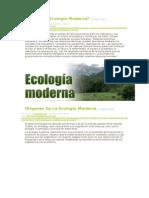 Ecologia Moderna