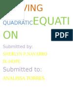 Solving Quadraticequation