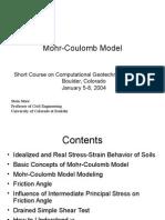 Mohr Coulomb Modelasd
