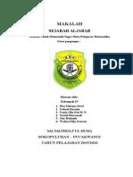 MAKALAH SEJARAH ALJABAR1