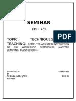 Tech of Tng-symposium,Buzz,CAI Etc