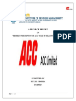 A Project Report On ACC GOLD