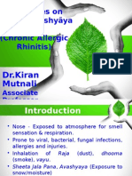 Case series on Vataja Pratishyaya (Allergic Rhinitis.pptx