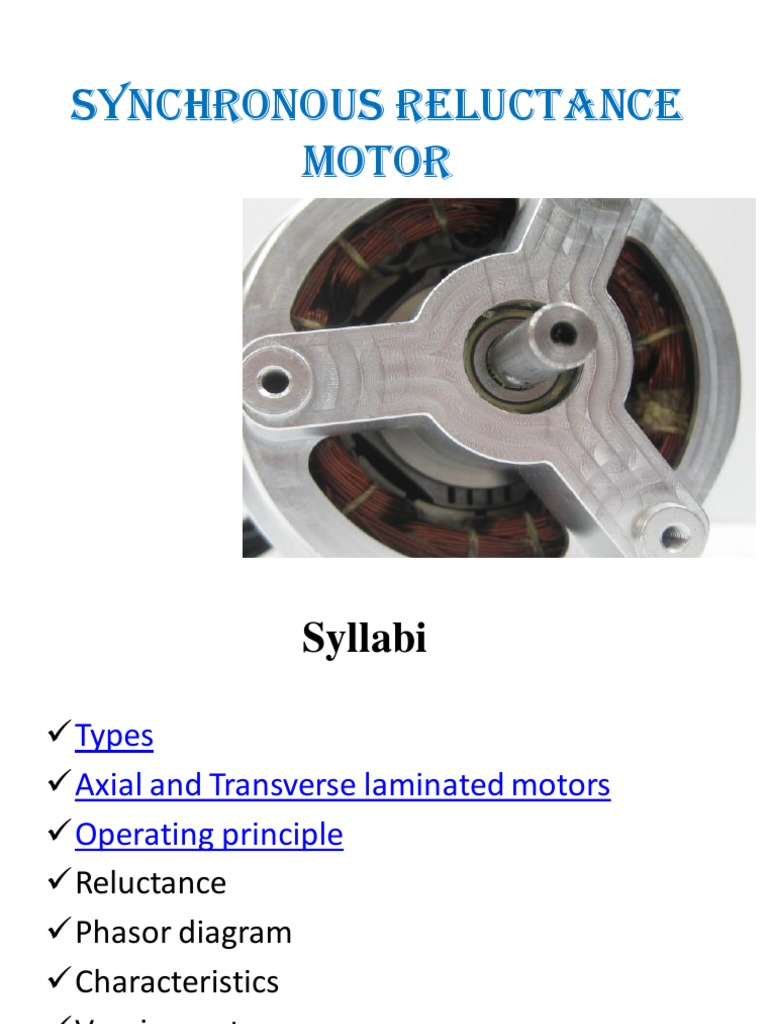 Synchronous Reluctance Electric Motor Magnetism
