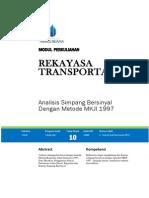 Modul Sepuluh Rekayasa Transportasi