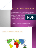 Cayley Aerospace Capabilities 2013