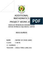 Additional Mathematics Project Work 2015