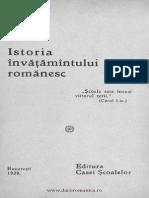 N Iorga - Istoria Invatamantului Romanesc