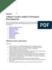 Adobe Premiere Pro CS5.5 Read Me