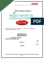 Coca Cola Project Mba