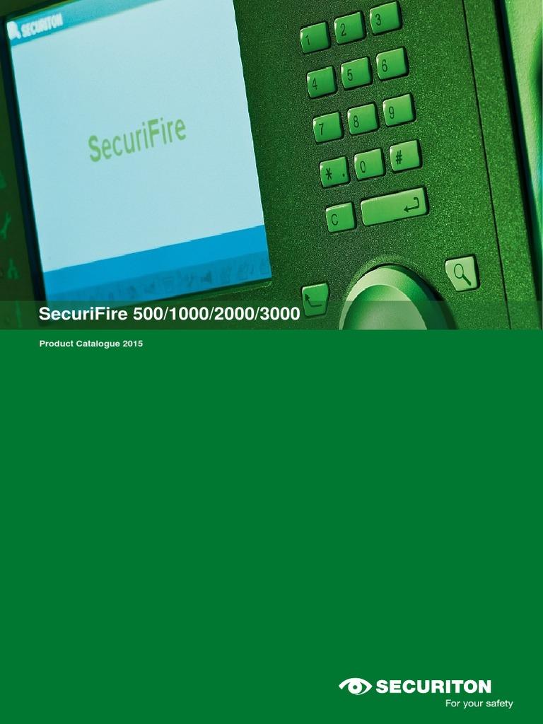 SecuriFire500100020003000PC2015enhpdf Electrical Connector Ethernet