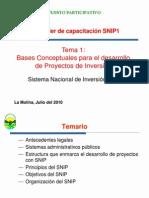 Sistema Nacional Inversion Publica PP 2011