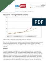 Problems Facing Indian Economy _ Economics Help