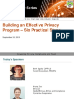 Building an Effective Data Privacy Program – 6 Steps from TRUSTe