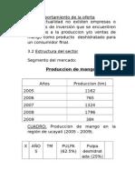 Produccion de Mango. Formulacion