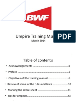 Badminton Umpire Training Manual