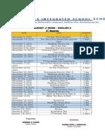 English Grade 8 (3rd Quarter Budget of Work)