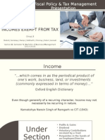Incomes Exempt From Tax