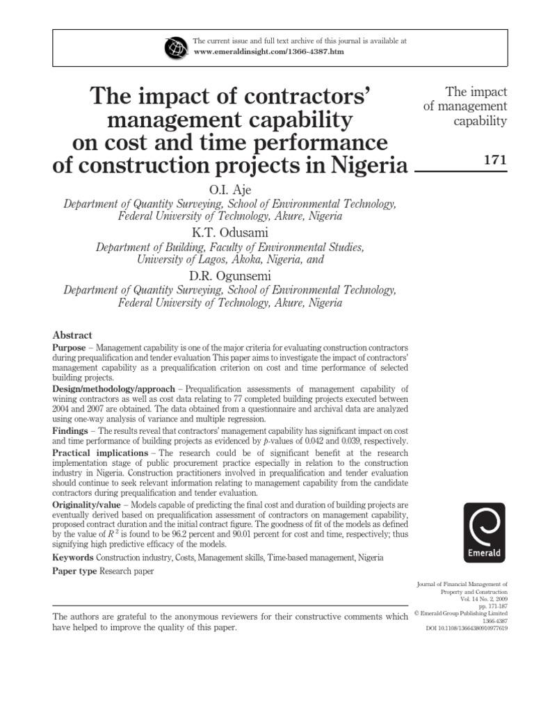 kelompok 1 | Regression Analysis | General Contractor