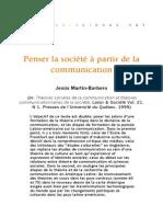 Barbero Martin -- Penser la société à partir de la communicatin (1999).pdf