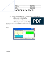 Matrices en Excel