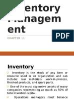 7.0 Inventory Management