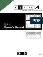 Korg EA-1 MKII Manual